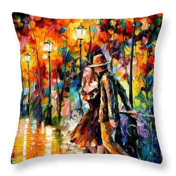 Tempter Throw Pillow by Leonid Afremov