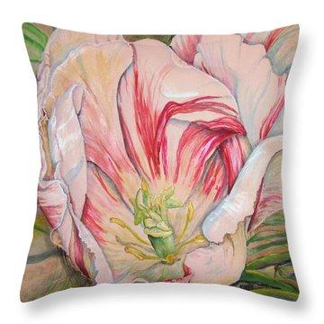 Tempting  Tulip Throw Pillow