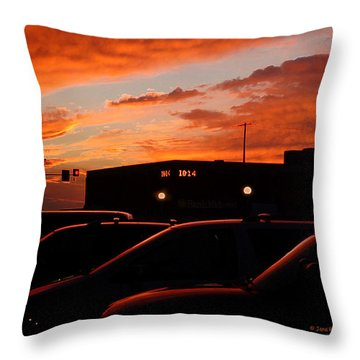 Throw Pillow featuring the digital art Ten Fourteen P.m. by Jana Russon