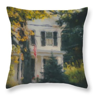 Ten Lincoln Street, Easton, Ma Throw Pillow