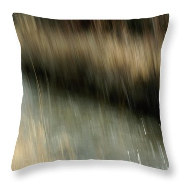Ten Mile Creek  And Grass Throw Pillow