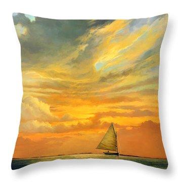 Ten Thousand Islands Throw Pillow