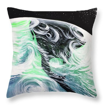 Throw Pillow featuring the painting Tenaciously Mindful by Nathan Rhoads