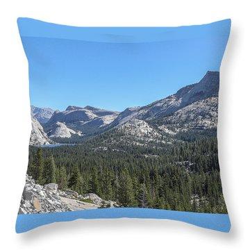 Tenaya Lake And Surrounding Mountains Yosemite National Park Throw Pillow