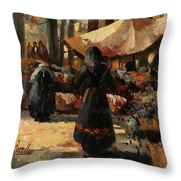 Tende Al Mercato Throw Pillow