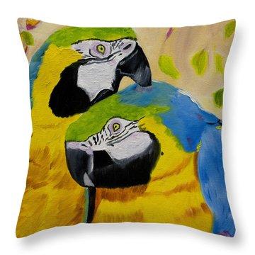 Tender Birdsong  Throw Pillow by Meryl Goudey