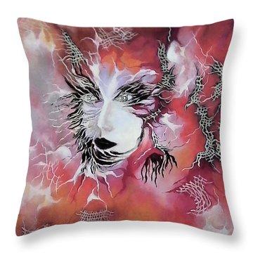 Tender Demon  Throw Pillow