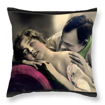 Tender Kisses Throw Pillow