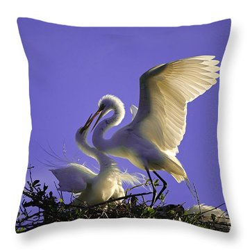 Tender Love Throw Pillow by Kenneth Albin