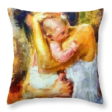Tender Moment Throw Pillow by Dragica  Micki Fortuna
