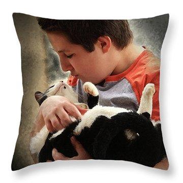 Tender Moment Throw Pillow by Kim Henderson