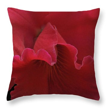 Tender Orchid Throw Pillow