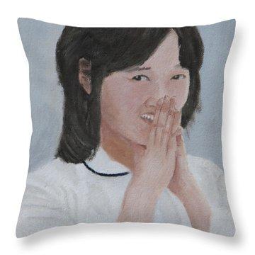 Tender Smile Throw Pillow