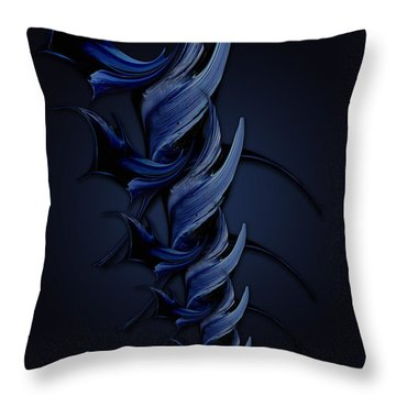 Tender Vision Of Blue Feeling Throw Pillow