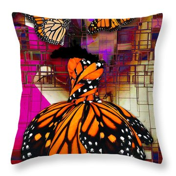 Throw Pillow featuring the mixed media Tenderly by Marvin Blaine