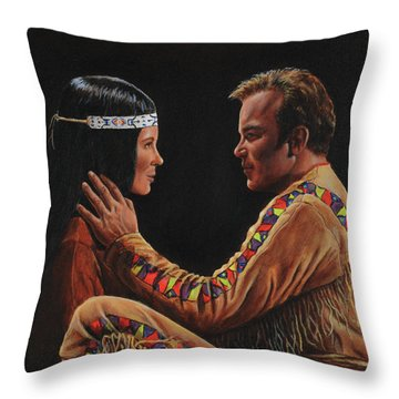 Tenderness In His Touch Throw Pillow