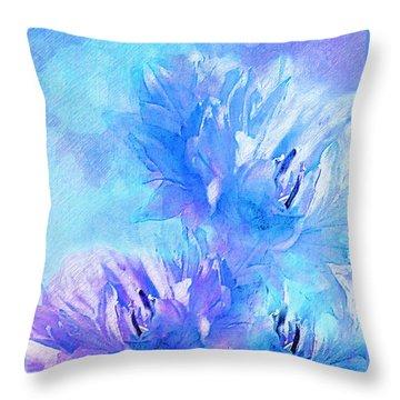 Throw Pillow featuring the digital art Tenderness by Klara Acel