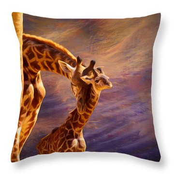 Tenderness Painted Throw Pillow