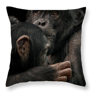 Tenderness Throw Pillow by Paul Neville