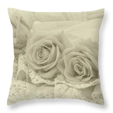 Tenderness Throw Pillow by Sandra Foster