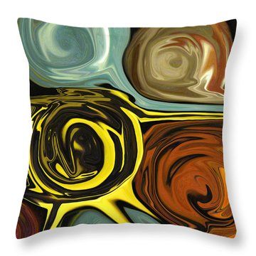Throw Pillow featuring the digital art Tendrils by Mary Bedy