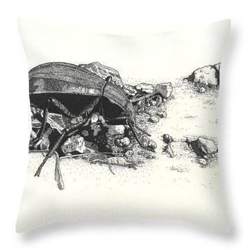 Darkling Beetle Throw Pillow
