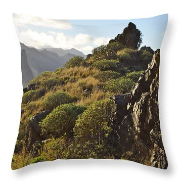 Tenerife Canary Islands Throw Pillow by Marek Stepan