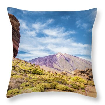 Tenerife Throw Pillow by JR Photography