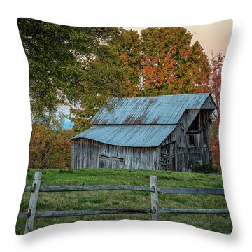 Throw Pillow featuring the photograph Tennessee Barn by David Waldrop