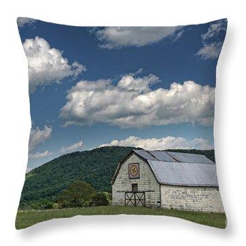 Tennessee Barn Quilt Throw Pillow