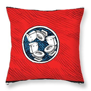 Tennessee Bathroom Flag Throw Pillow