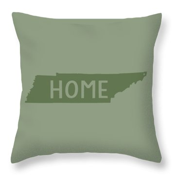 Throw Pillow featuring the digital art Tennessee Home Green by Heather Applegate