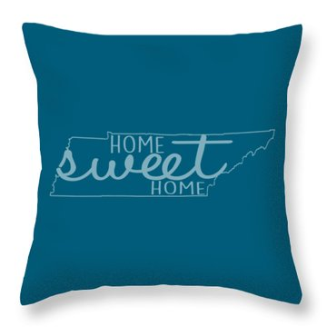 Throw Pillow featuring the digital art Tennessee Home Sweet Home by Heather Applegate