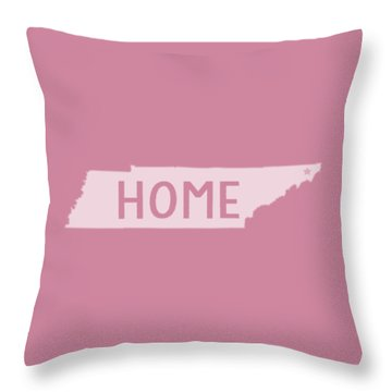 Throw Pillow featuring the photograph Tennessee Home White by Heather Applegate