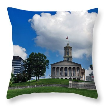 Tennessee State Capitol Nashville Throw Pillow by Susanne Van Hulst
