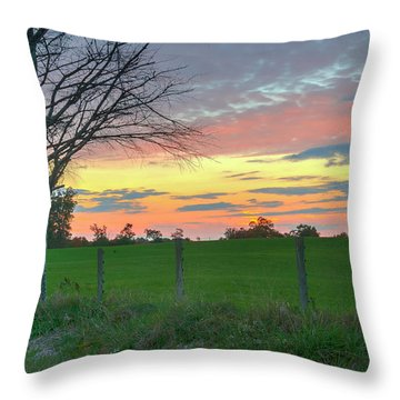 Throw Pillow featuring the photograph Tennessee Sunset by David Waldrop