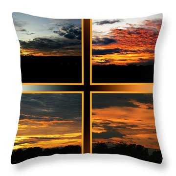 Throw Pillow featuring the photograph Tennessee Sunset by EricaMaxine  Price