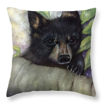 Tennessee Wildlife Black Bear Throw Pillow