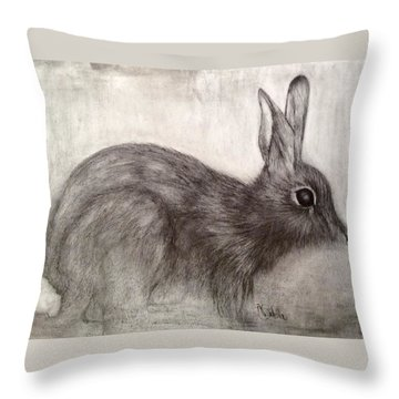 Tennessee Wildlife Cottontail Rabbit Throw Pillow