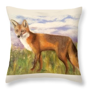 Tennessee Wildlife Red Fox Throw Pillow