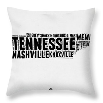 Tennessee Word Cloud Map 2 Throw Pillow