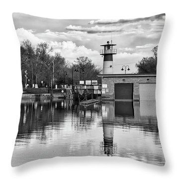 Tenney Lock 3 - Madison - Wisconsin Throw Pillow