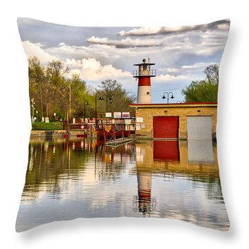 Tenney Lock - Madison - Wisconsin Throw Pillow