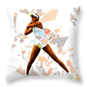 Throw Pillow featuring the painting Tennis 113 by Movie Poster Prints