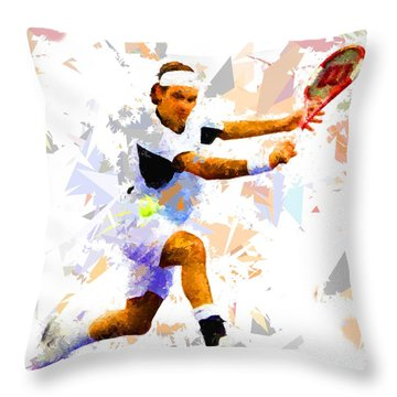 Throw Pillow featuring the painting Tennis 114 by Movie Poster Prints