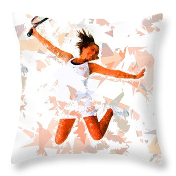 Throw Pillow featuring the painting Tennis 115 by Movie Poster Prints