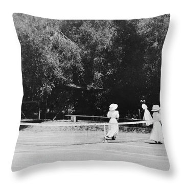 Tennis Champions Sutton And Hotchkiss Throw Pillow by Omikron