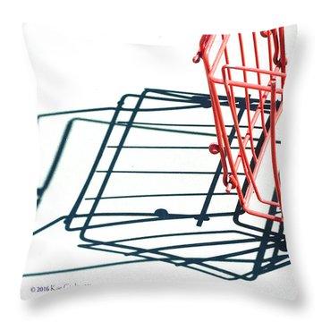 Tennis Court Pickup Basket Throw Pillow by Kae Cheatham