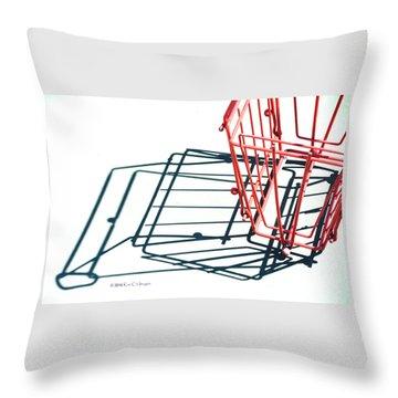 Tennis Court Pickup Basket Throw Pillow
