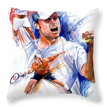 Tennis Snapshot Throw Pillow by Ken Meyer